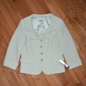 NWT Tahari Bow Light Green Blazer Jacket